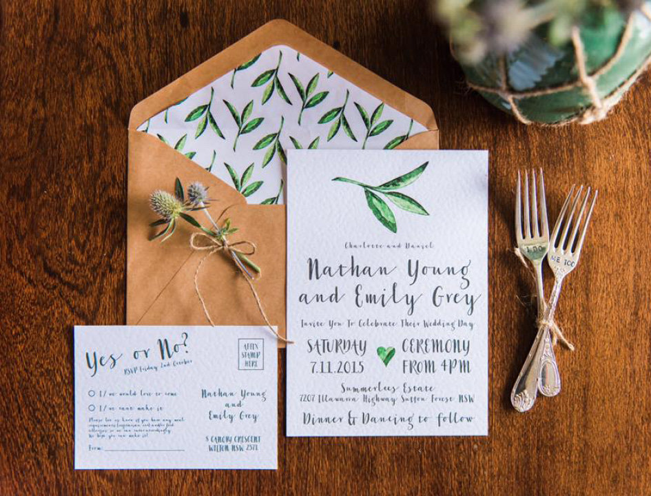 macarthur wedding invitations