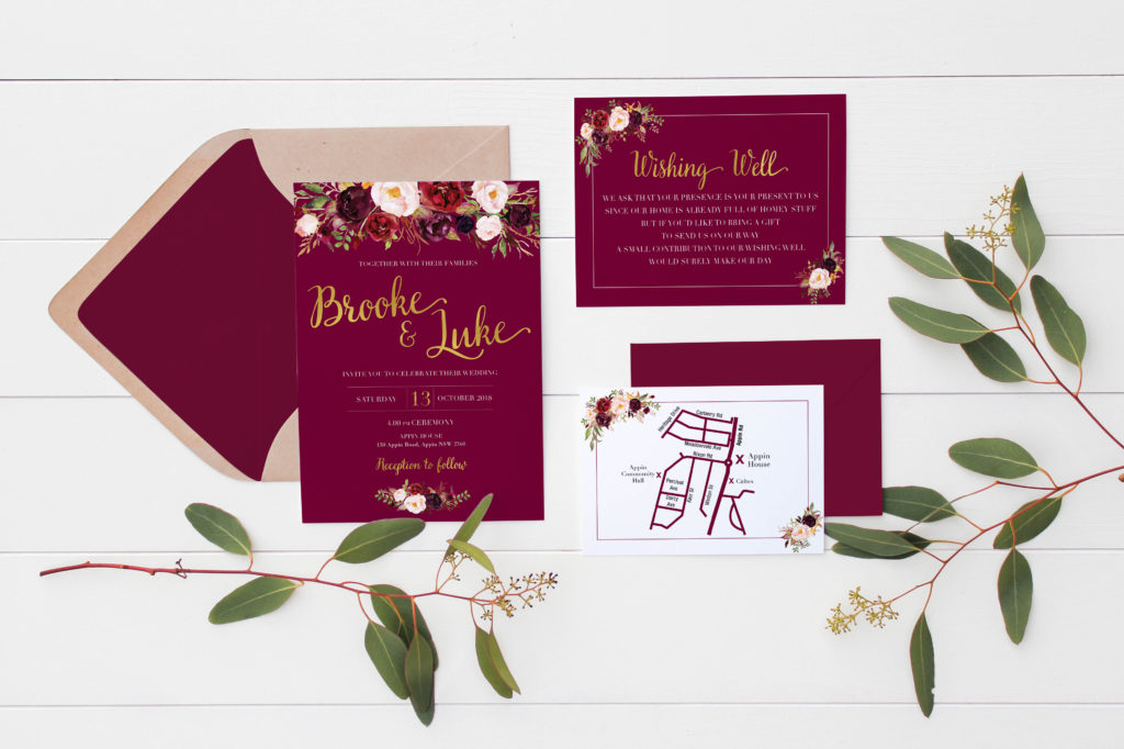 watercolour wedding invitations
